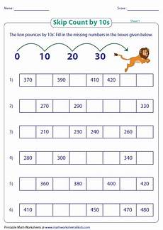 worksheets on skip counting by 10 s 11973 skip counting by 10s worksheets
