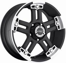 v tec 394 warlord rims matte black with machine face