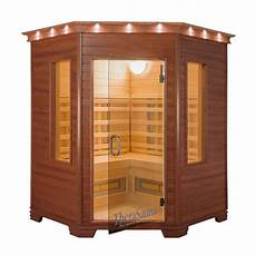 Sauna And Play - therasauna 3 person corner infrared health sauna with mps