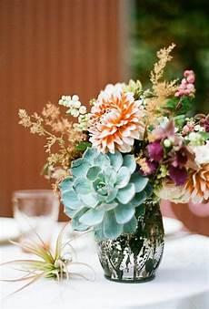 decor succulent and dahlia wedding centerpiece 2414163
