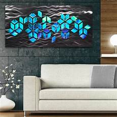 quot impulse quot large 46 quot x22 quot abstract geometric design metal wall art with dv8 studio