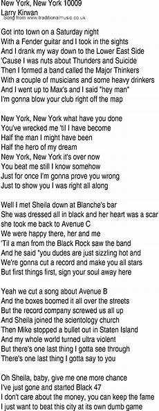 song and ballad lyrics for new york new york