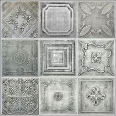 Antique Silver Styrofoam 20x20 Tin Look Ceiling Tiles