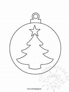 Malvorlagen Weihnachten Kugeln Cutout Sheet Coloring Page