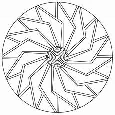 easy mandala coloring page getcoloringpages com