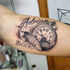 memorial pocket on forearm with adrian name