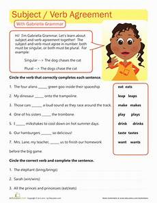 great grammar subject verb agreement worksheet education com