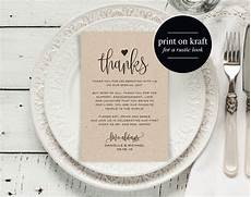 thank you place cards template wedding thank you cards thank you printable editable