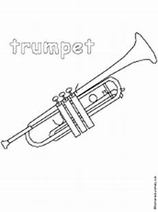 trumpet coloring page enchantedlearning