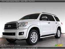 Super White  2013 Toyota Sequoia Platinum Red Rock