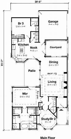 european cottage house plans first floor plan of european narrow lot house plan 20504