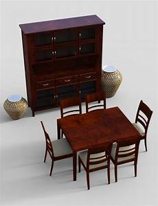furniture 4 typical dining furnitures 3d and 3d software by daz 3d