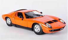 lamborghini miura orange 1968 burago modellauto 1 18