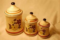 vintage ceramic kitchen canisters vintage ceramic canisters flower pattern three set