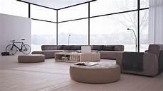 minimalistisch einrichten 17 moderne wohnzimmer mit