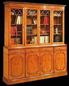 bibliothèque anglaise meuble biblioth 232 que anglaise 4 portes 4 tiroirs longfield 1880