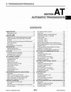 2007 nissan pathfinder automatic transmission section at pdf manual 320 pages