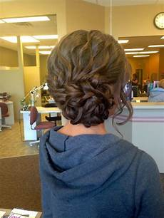 awesome medium brown homecoming and prom hairstyle hair
