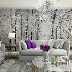 Tree Living Room Wallpaper winter snow branches tree wallpaper photo mural wallpapers