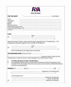 bill of sale receipt sle 8 exles in word pdf