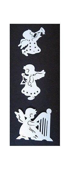 fensterbilder weihnachten vorlagen engel fensterbild filigran tonkarton quot 3 engel mit instrumente