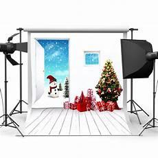 5x7ft Vinyl Blue Snowman Photography Backdrop by 5x7ft Vinyl Tree Snowman Photography Backdrop