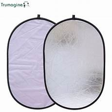 60x90cm Collapsible Photography Reflector Studio by Trumagine 60x90cm 2 In 1 Portable Collapsible Silver White