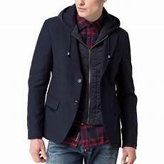 manteau blazer homme hilfiger mod 232 le jerry bleu