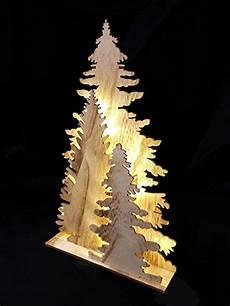 weihnachtsbaum aus holz mit beleuchtung holz fensterdeko tannenbaum deko leuchte mit 15 led