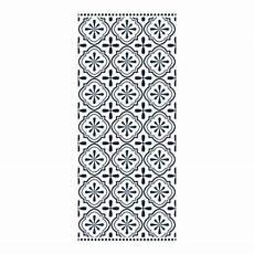 Tapis Vinyle Carreaux Motif Ciment Noir Et Blanc 49 5 X