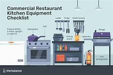 Kitchen Electronics List by Commercial Restaurant Kitchen Equipment Checklist