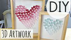 diy room decorations 3d heart art easy diy by