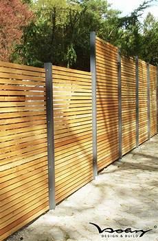 Eleganter Design Sichtschutz Modern Holz Sichtschutz