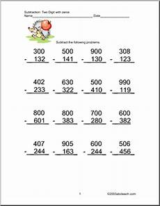 subtraction worksheets with borrowing and zeros 10016 ms chapin s marvelous monkey jungle of excellence classroom march 2015