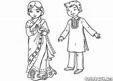malvorlagen kinder in traditioneller kleidung
