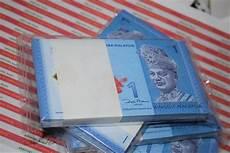 jual uang polymer 1 ringgit malaysia unc nomer seri urut
