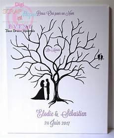 arbre à empreintes sur toile arbre 224 empreintes mariage sur toile 40 50 diy tree