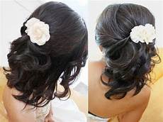 bridal hairstyle for short medium long hair tutorial weddings prom youtube
