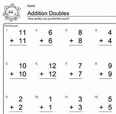 simple math addition worksheets with pictures 9646 worksheets for elementary math doubles addition doubles addition addition worksheets