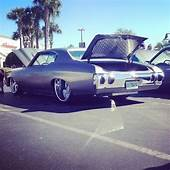 Chevelle Tubbed Slammed Grey Silver Stripes Tucked
