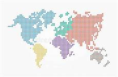 world map pixel style and flat color design different color of continent stock vector