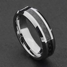 6mm tungsten carbide black carbon fiber s wedding