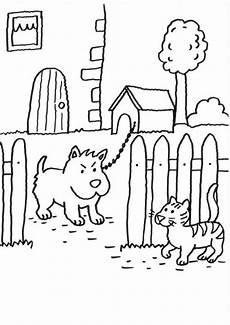 Malvorlage Hund Und Katze Kostenlose Malvorlage Hunde Wachhund Und Katze Zum Ausmalen