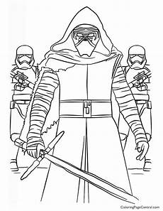 wars kylo ren and order coloring page with