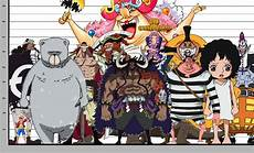 One Piece Anime Size Chart Kaido S Height Compared To Some Of The Other Tallest