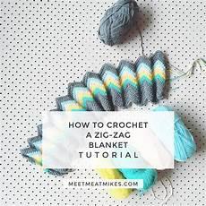 Tutorial How To Crochet A Zali Zig Zag Chevron Blanket