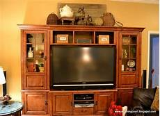 Decorating Ideas Top Of Entertainment Center by How I Gave My Entertainment Center A Makeover Without