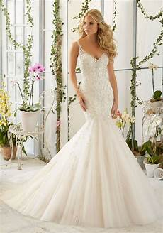 intricate crystal beaded embroidery on tulle mermaid morilee bridal wedding dress style 2823