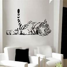 home decor decals animal tiger relaxing wall sticker waterproof home decal