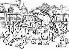 Ausmalbilder Bauernhof Pferde Pferd Auf Dem Bauernhof Les Animaux